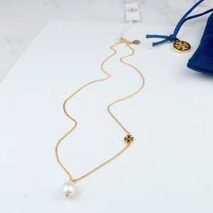 Tory Burch Pearl Simple Fashion Short Necklace